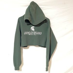 Michigan State Spartans crop hoodie